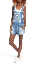 Hudson Women's Florence Rip & Repair Short Denim Overalls