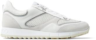 Jimmy Choo Glitter Mesh Lace-Up Sneakers