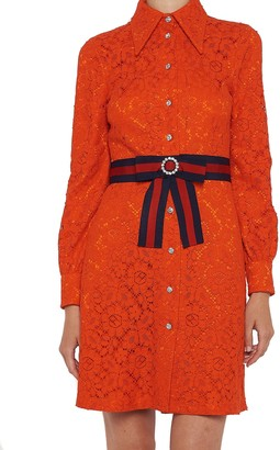 Gucci Lace Shirt Dress