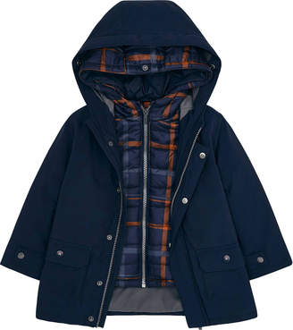 Mayoral Boy's 3-in-1 Reversible Coat w/ Removable Plaid Jacket, Size 4-8