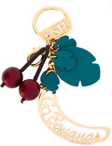Sophie Hulme cherries keychain - women - Leather/Brass/plastic - One Size
