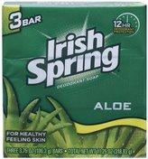 Aloe Deodorant Soap By Irish Spring for Unisex, 3 Count