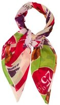 Christian Dior Multicolor Printed Scarf