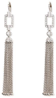 Maria Canale for Forevermark 18k White Gold Deco Diamond Tassel Earrings