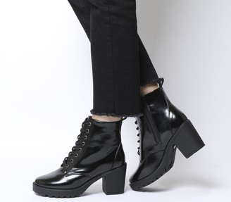Office Absolutely Lace Up Cleated Boots Black Box