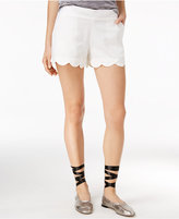 Amy Byer Juniors' Pull-On Scalloped Shorts