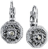 2028 Silver-Tone Leverback Earrings with Stone Accents, a Macy's Exclusive Style