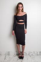 Donna Mizani Long Sleeve Marilyn C/O Midi