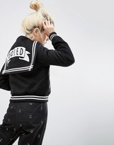 Lazy Oaf Mono Bored Varsity Sailor Bomber Jacket
