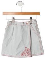 Petit Bateau Girls' Striped Wrap Skirt