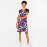 Paul Smith Women's Navy 'Floral Circles' Print Jersey Dress