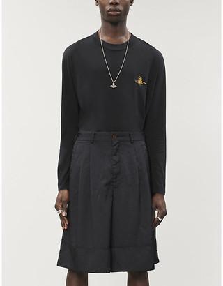 Vivienne Westwood Brand-embroidered scoop-neck cotton jersey T-shirt