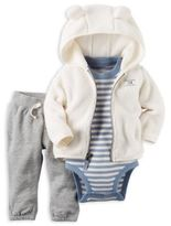 """Carter's 3-Piece """"Handsome Little Guy"""" Jacket, Bodysuit, and Pant Set in Ivory"""