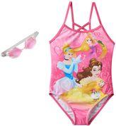 Disney Princess Rapunzel, Cinderella & Belle Girls 4-6x One-Piece Swimsuit