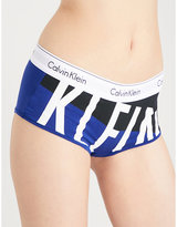 Calvin Klein Modern Cotton-blend Boyshort Briefs