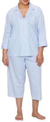 Lauren Ralph Lauren Plus Size Heritage Essential Knit Capri Pajama Set