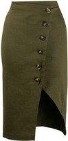 Pinko asymmetric buttoned skirt