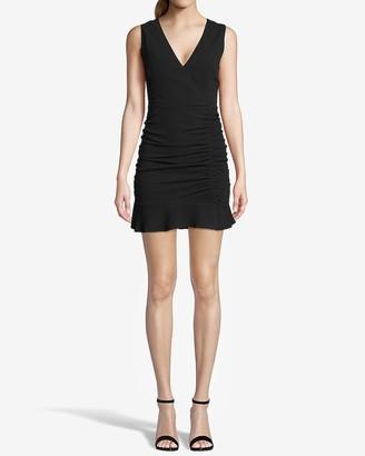 Express Bb Dakota Sleeveless Ruched Mini Dress