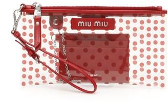 Miu Miu Transparent Polka Dot Clutch Bag