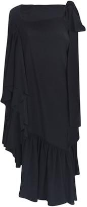Rochas Asymmetric Ruffled Dress