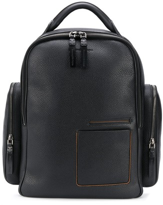 Ermenegildo Zegna Grained Leather Backpack