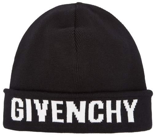 Givenchy Black Cotton-blend Beanie