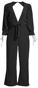 For Love & Lemons Women's Georgi Cropped Cutout Jumpsuit