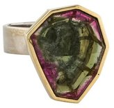 Ring Architectural Parti-Colored Tourmaline Cocktail