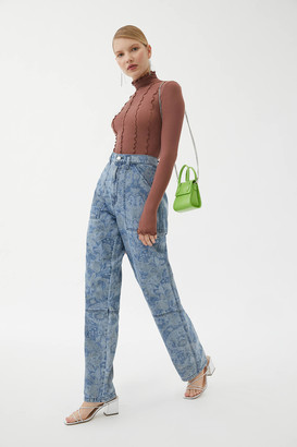 BDG Lacy High-Waisted Baggy Jean Paisley Print