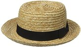 San Diego Hat Company Women's Straw Boater with Solid Black Bow and Band