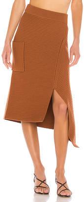 Tibi Merino Rib Sweater Origami Slit Skirt