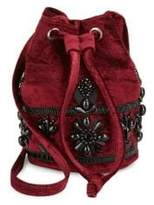Steve Madden Beaded Velvet Bucket Bag