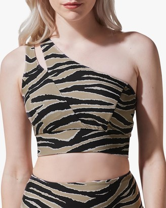 Michi Tigress One-Shoulder Sports Bra
