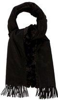 Valentino Fur-Trimmed Fringe Shawl