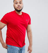 Lacoste Big Large Croc Logo T-Shirt In Red
