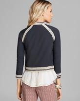 Free People Jacket - Crochet Inset Baseball