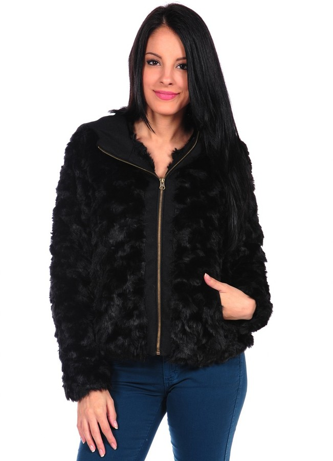Coffee Shop Faux Fur Jacket
