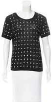 Maje Embellished Short Sleeve Top
