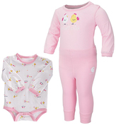 Carhartt Pink & White 'Carhartt Chick' Bodysuit & Pants - Infant