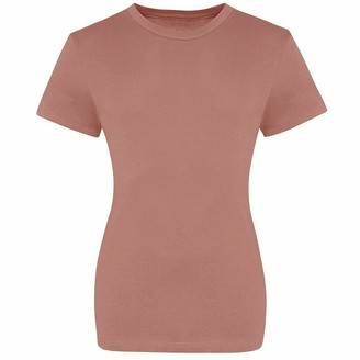 Absab Ltd AWDis The 100 Ladies T-Shirt Short Sleeve Tee Shirt Womens Crew Neck T Plain Top Ink Blue XL