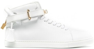Buscemi Padlock Leather Mid-Top Sneakers