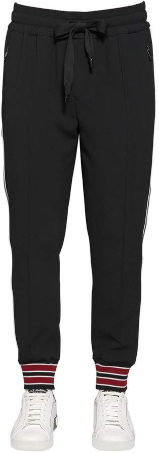 Dolce & Gabbana Tech Viscose Blend Track Pants