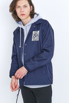 Obey Rose Grid Navy Coach Jacket