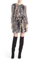Diane von Furstenberg Women's 'Kelley' Print Silk Smocked Blouson Dress