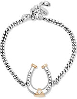 Alexander McQueen Ruthenium And Gold-plated Swarovski Pearl Bracelet - Silver