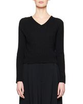 The Row Rozanne Cashmere/Silk Crop Sweater