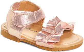 Blush B-Lush Delia*S dELiA*s Girls' Sandals Blush - Blush Shimmer Ruffle Sandal - Girls