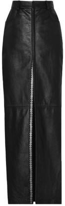 Saint Laurent Leather Maxi Skirt