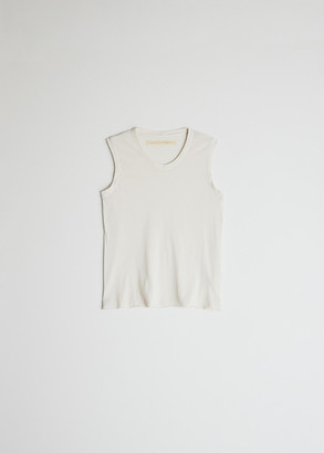 Raquel Allegra Women's Fitted Muscle T-Shirt in White, Size 0 | Cotton/Polyester