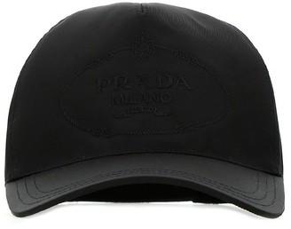 Prada Logo Embroidered Cap